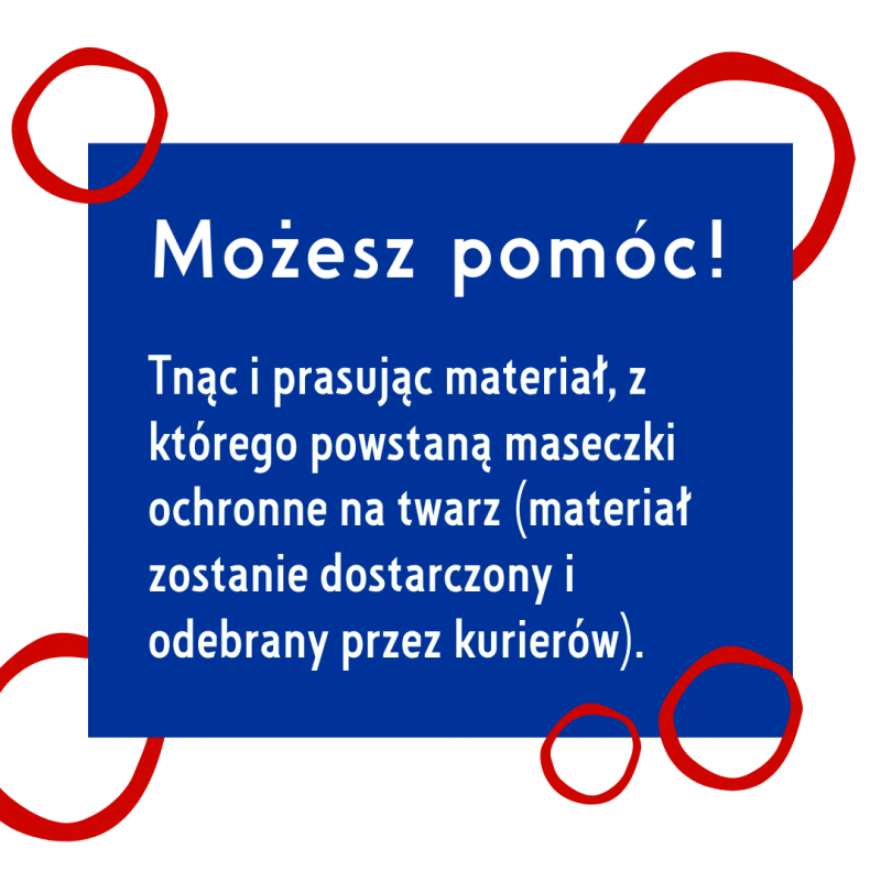 Polonia4Neighbours wspieramy inicjatywy, które dostarczają potrzebującym maseczki i artykuły higieniczne