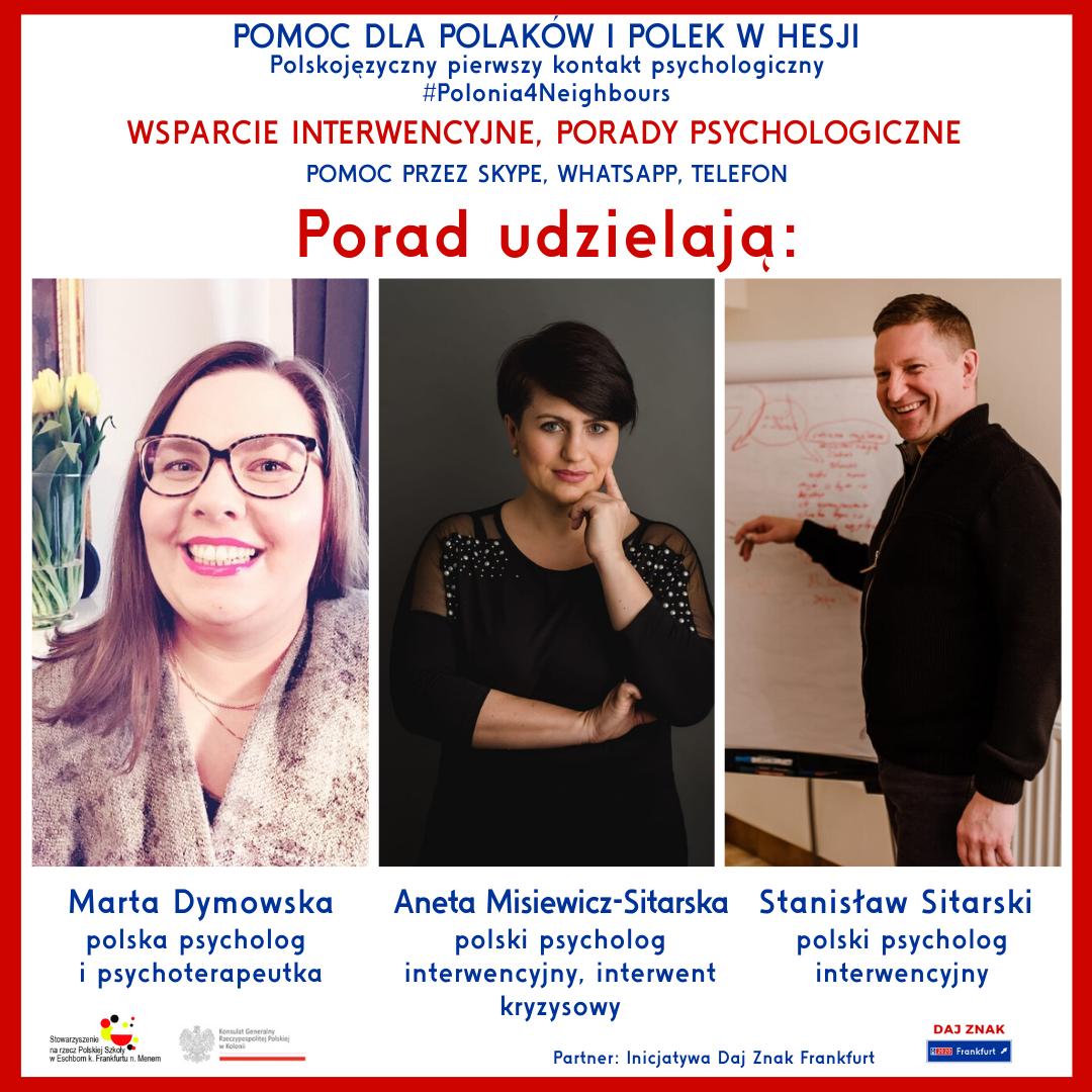 Wsparcie interwencyjne i porady psychologiczne dla Polaków z Hesji