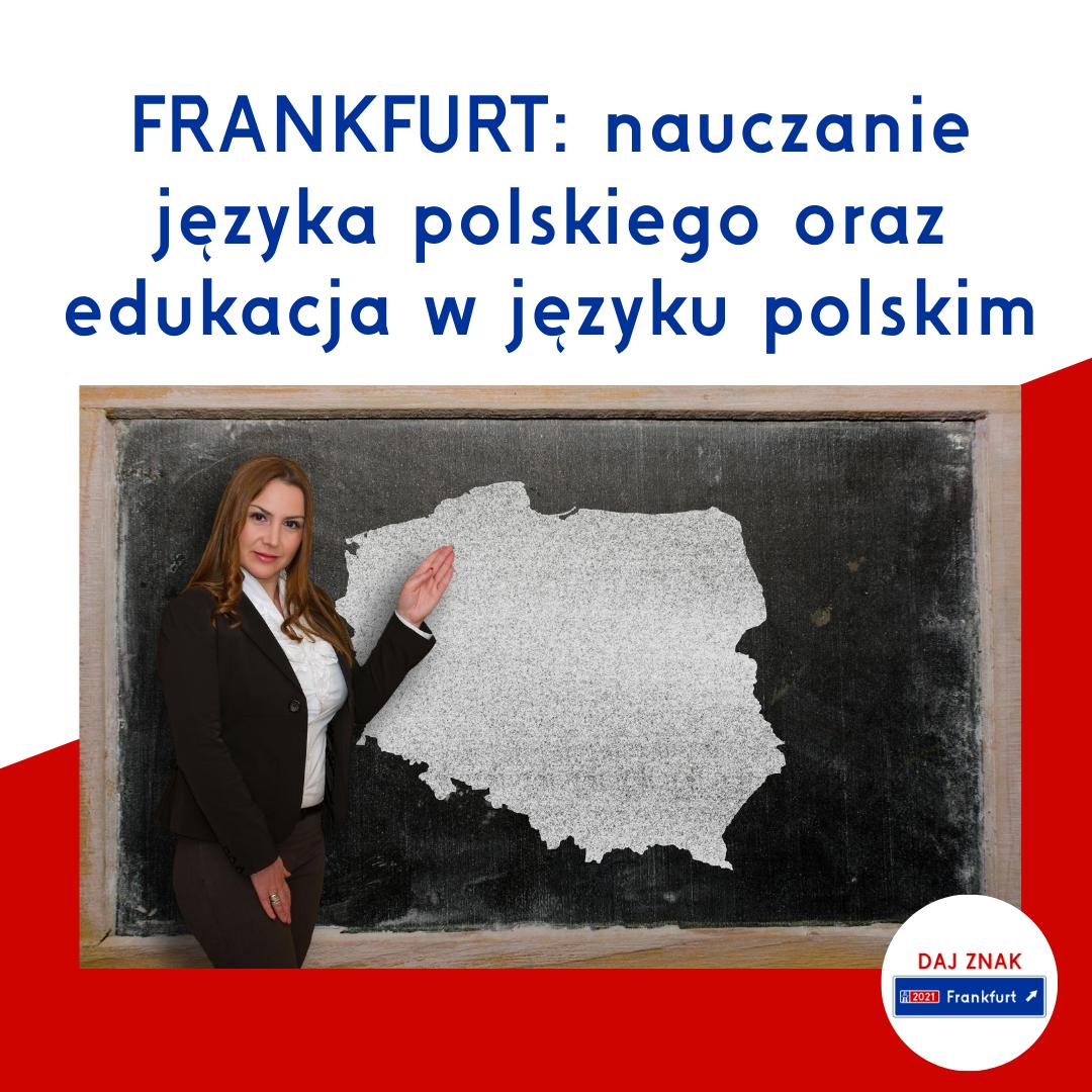 Nauczanie języka polskiego oraz edukacja po polsku we Frankfurcie nad Menem