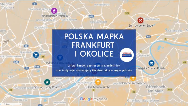 Polska mapka Frankfurt i okolice