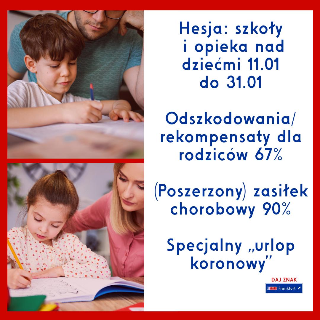 Hesja szkoły i opieka nad dziećmi styczeń 2021
