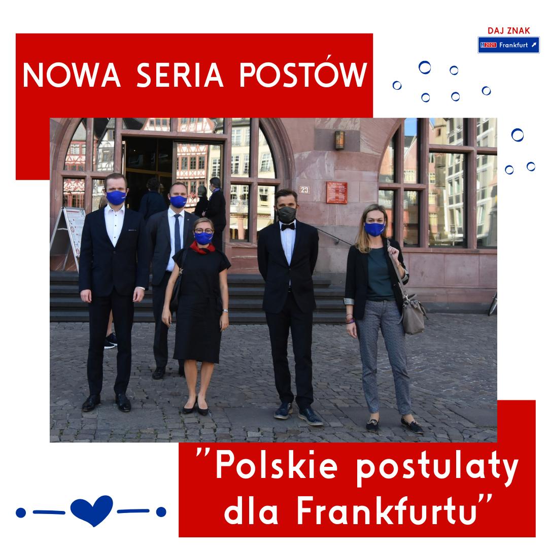 Przedstawiamy się i zapowiadamy serię - Polskie postulaty dla Frankfurtu