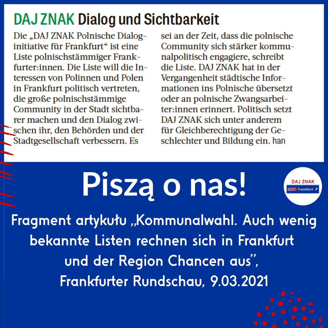 Dialog i widoczność polskiej społeczności we Frankfurcie