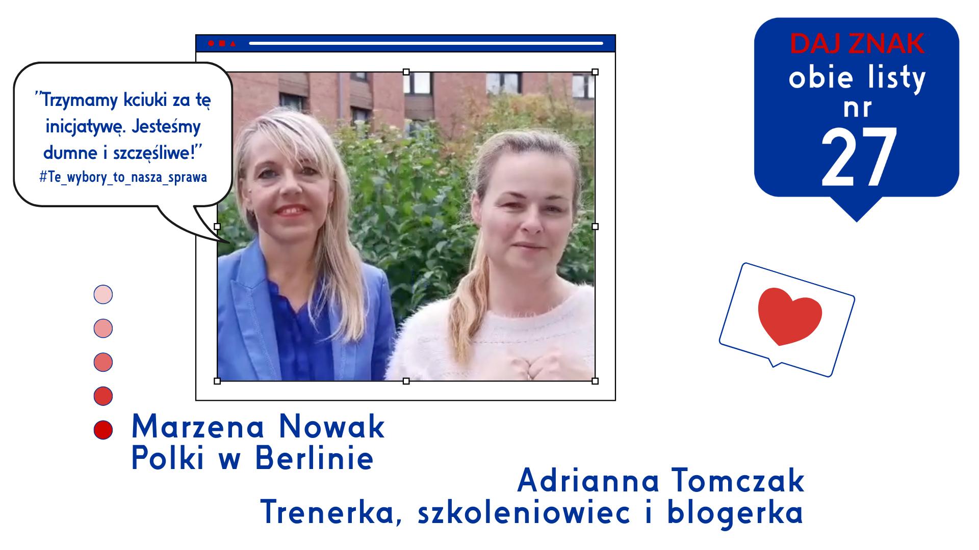 Marzena Nowak i Adrianna Tomczak