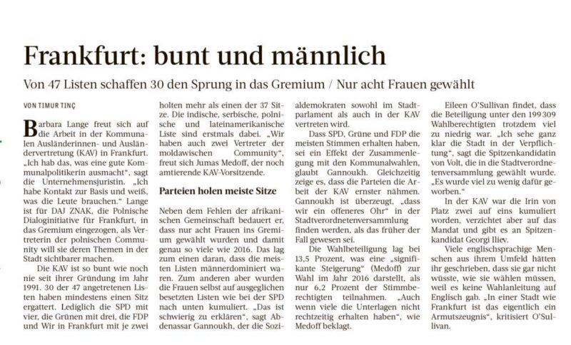 KAV Frankfurt: Bunt und männlich